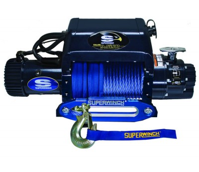 Troliu auto electric 24v Superwinch 12.5i - 5670 kg - cablu sintetic (plasma) - modul comanda fix