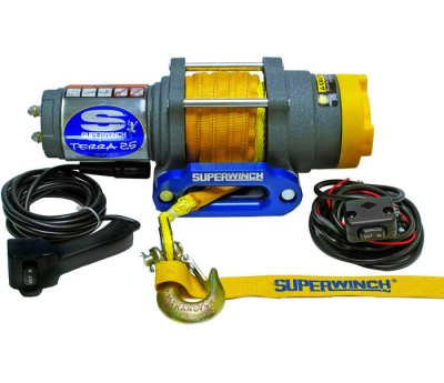Troliu ATV electric 12v Superwinch 2.5 - 1134 kg - cablu sintetic (plasma)