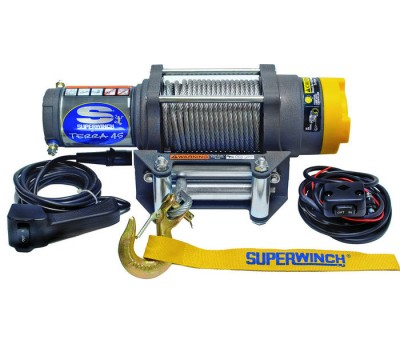 Troliu ATV electric 12v Superwinch 4.5 - 2040 kg - cablu otel