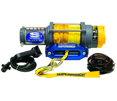 Troliu ATV electric 12v Superwinch 4.5 - 2040 kg - cablu sintetic (plasma)